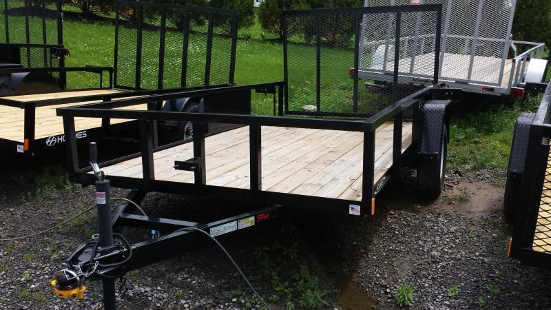 2018 Holmes 6-4x12 Commercial Open Side Rail Utility Trailer