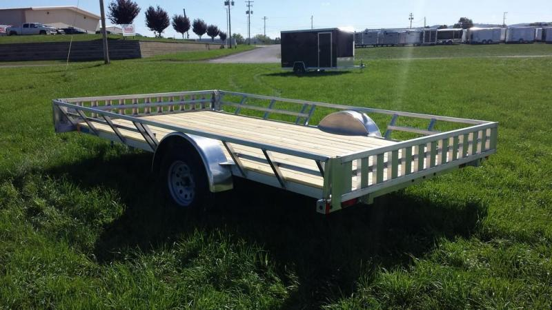 2018 Mission 83x14 Aluminum 3 Place ATV Trailer