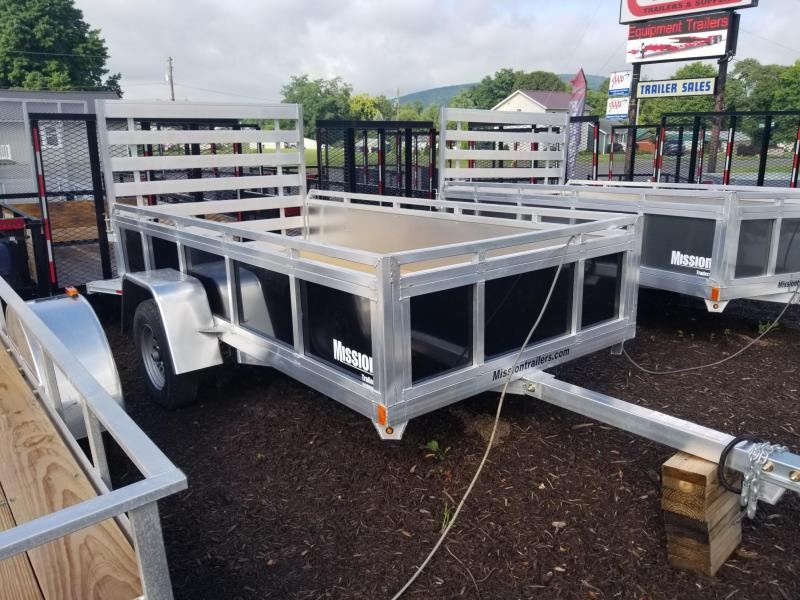 2018 Mission 5x10 Solid Side Aluminum Utility Trailer