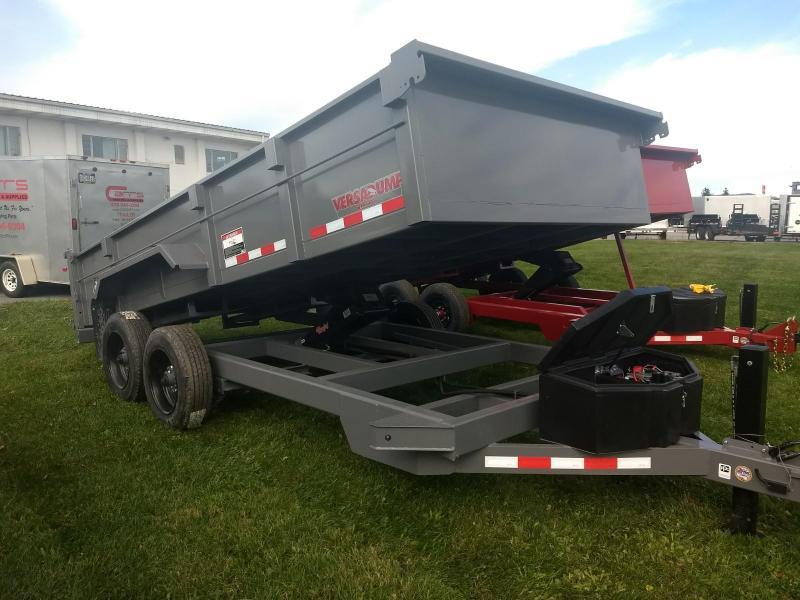 2019 Midsota 7X16 HV-16 17.6K Dump Trailer