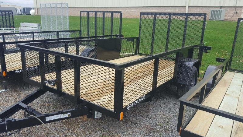 2018 Holmes 6-4x12 Commercial Mesh Side 5K Utility Trailer