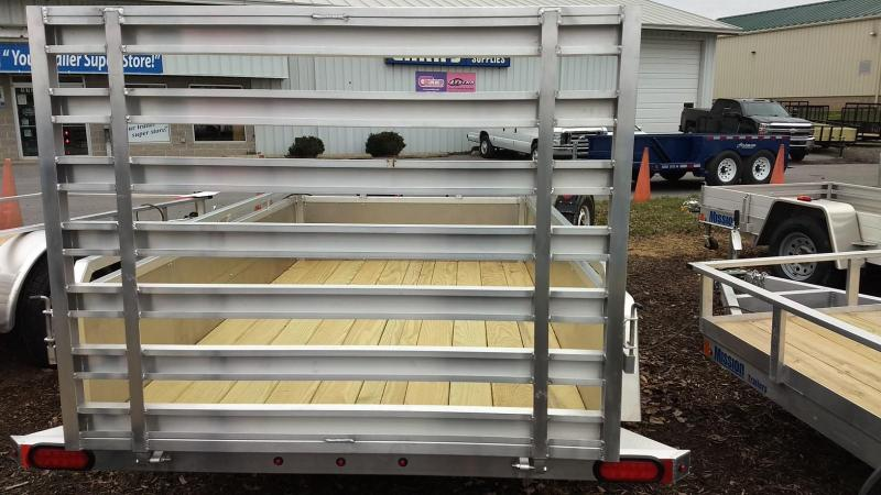 2019 Mission 5x8 Solid Side Aluminum Utility Trailer