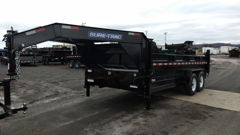 2019 Sure-Trac 7x16 14K low profile gooseneck dump trailer