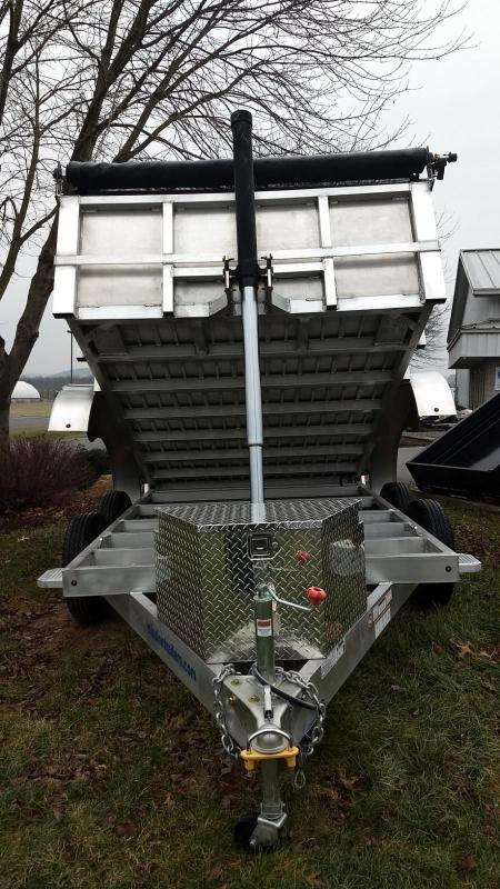 2019 Mission MODP 6x10 Aluminum 6K Dump Trailer