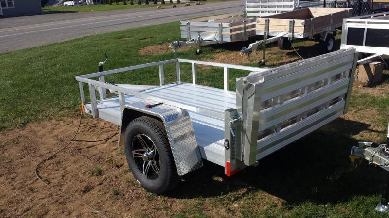 2020 Stealth Trailers 5x8 Alum Open Deck Rail Utility Trailer