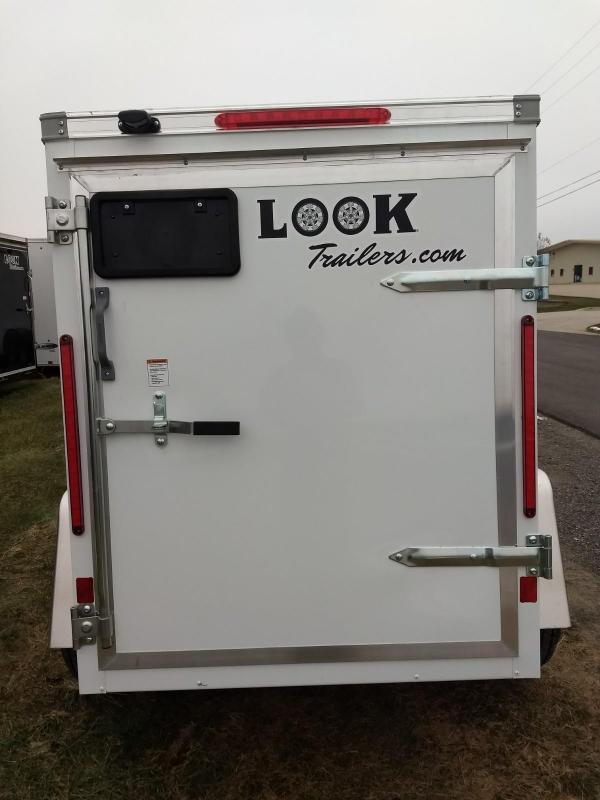 2019 Look Trailers Element 4x6 Enclosed Cargo Trailer