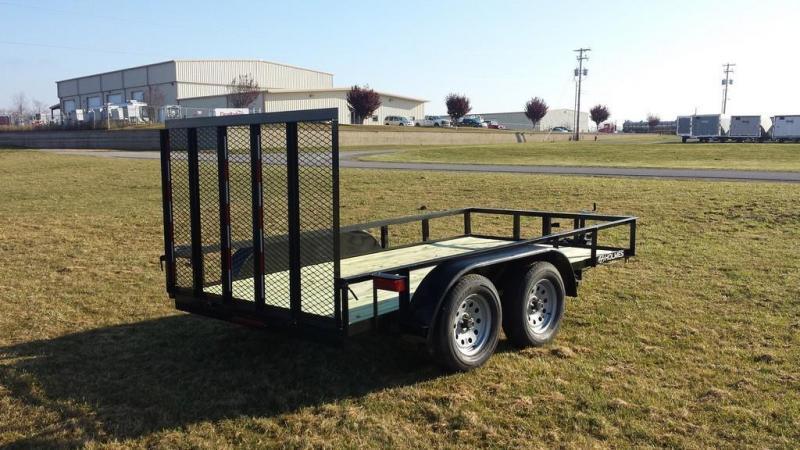 2017 Holmes 6-4x12 Open Side Rail 7k Utility Trailer