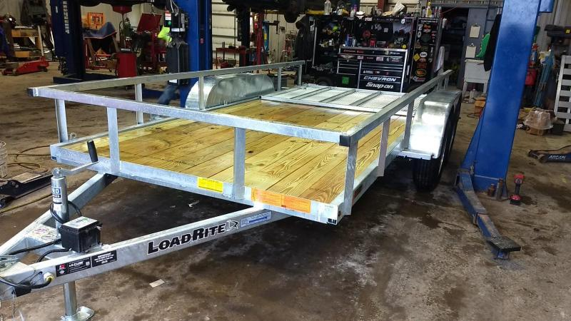 2019 Load Rite 6-5x14 Galvanized Open Side Rail Utility Trailer