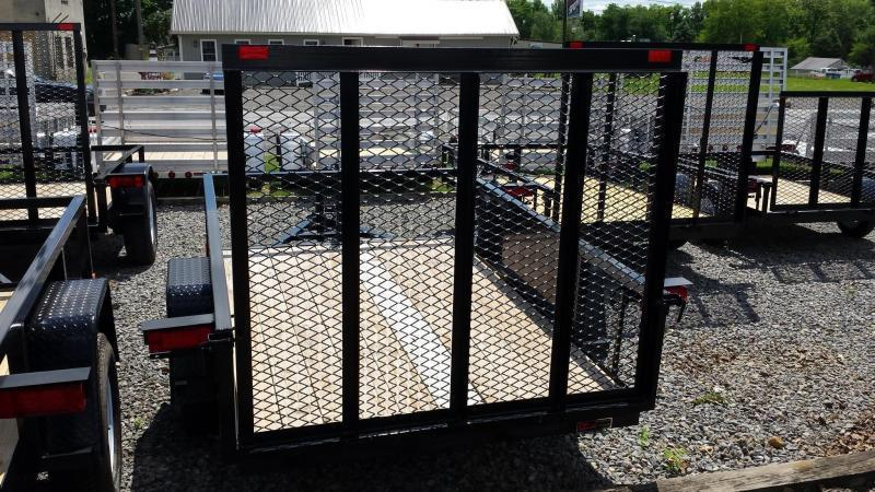 2019 Holmes 5x8 Commercial Open Rail Utility Trailer