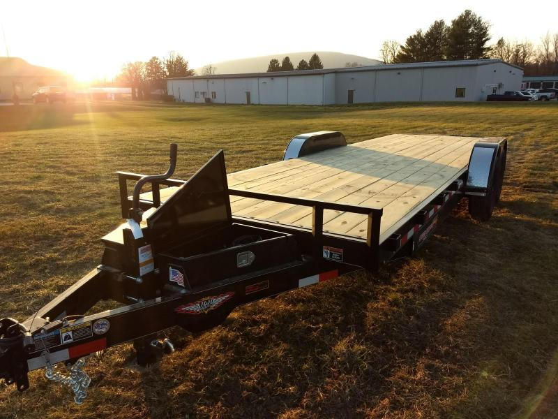 2019 H and H Trailer 7x24 14K power tilt deck Car / Racing Trailer