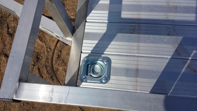 2020 Stealth Trailers 5x8 Alum Open Deck Rail Utility Trailer