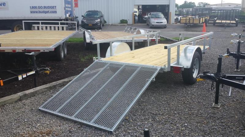 2018 Load Rite 5x10 Galvanized Open Side Utility Trailer