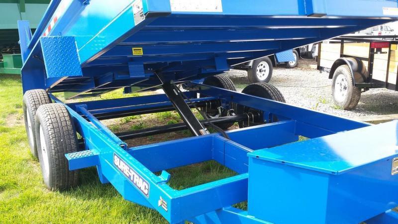 2018 Sure-Trac 6x12 low profile dump trailer -10k -ramps -combo gate