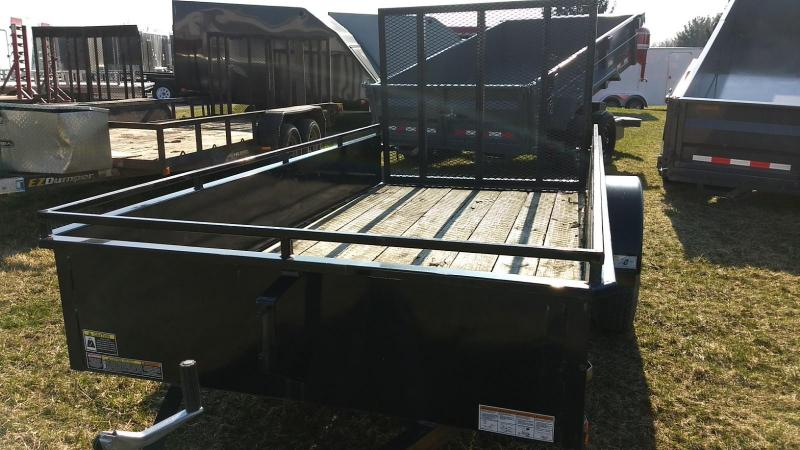 2015 Belmont Machine 5x10 High Side Utility Trailer