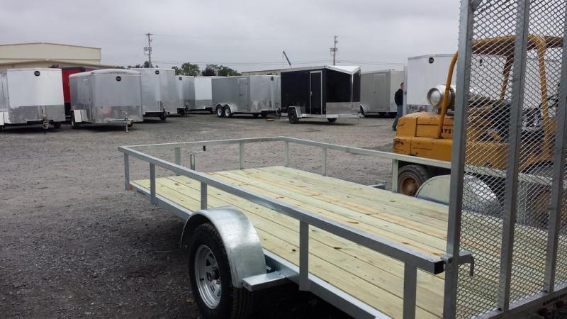 2018 Load Rite 6-5x14 Galvanized Open Side Rail Utility Trailer