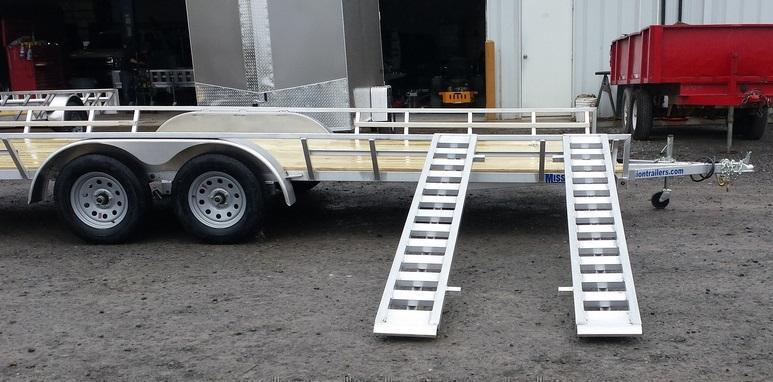 2019 Mission 83x18 Aluminum 4 Place ATV Trailer