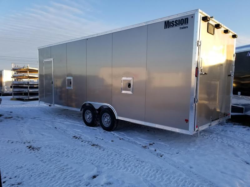 2018 Mission 8.5x24 Dual V Ramp Snowmobile Trailer