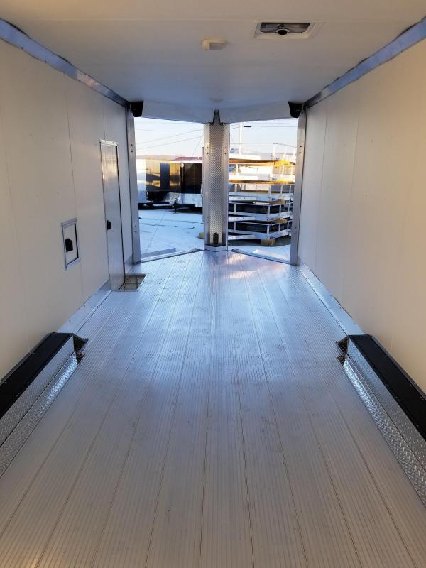 2018 Mission 8.5x24 Dual V Ramp Snowmobile Trailer