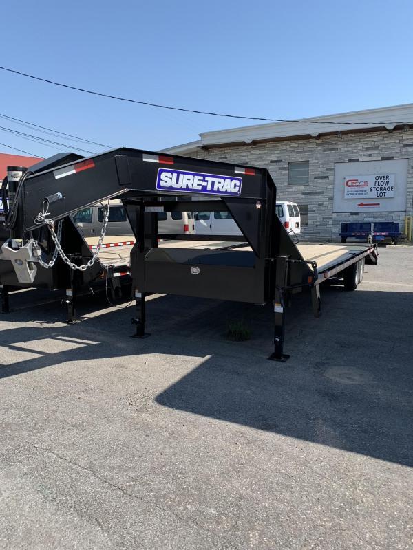 2019 Sure-Trac 8.5x20+5 15K HD Goose Neck deckover Equipment Trailer