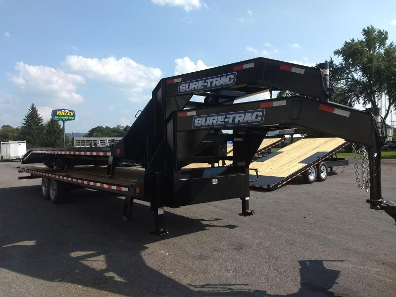2019 Sure-Trac 8.5x20+5 22.5K HD Goose-Neck deckover Equipment Trailer in Walpole, NH