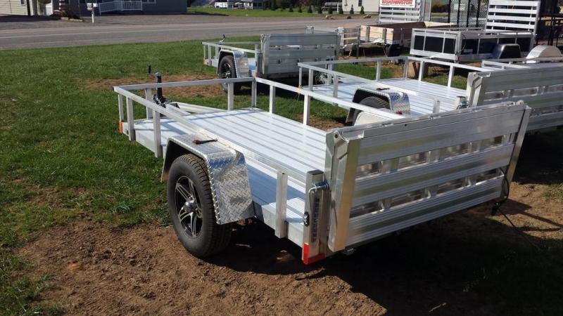 2018 Stealth Trailers 5x10 Alum Open Deck Rail Utility Trailer