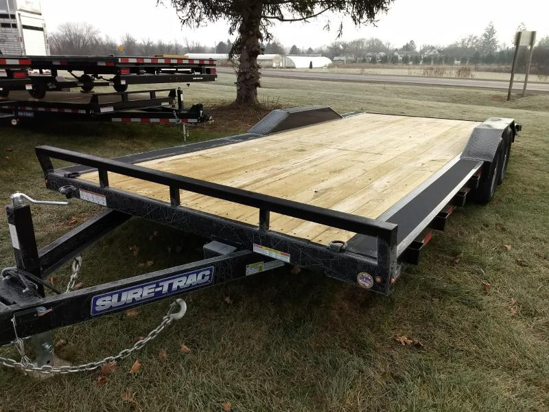 2018 Sure-Trac 102x20 10K Full Width Wood deck Car Trailer