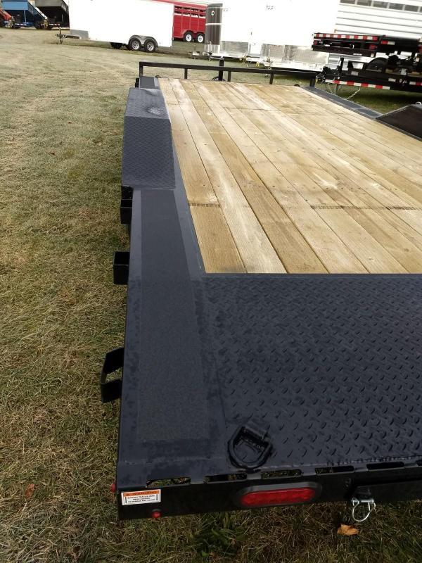 2018 Sure-Trac 102x20 10K Full Width Wood deck Car Trailer