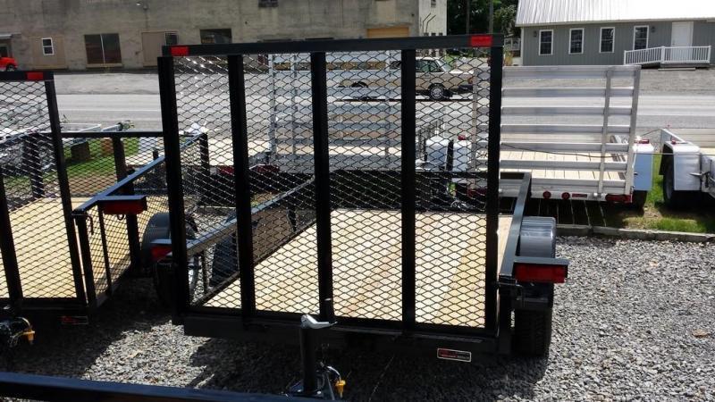 2018 Holmes 5x8 Open Side Rail Utility Trailer