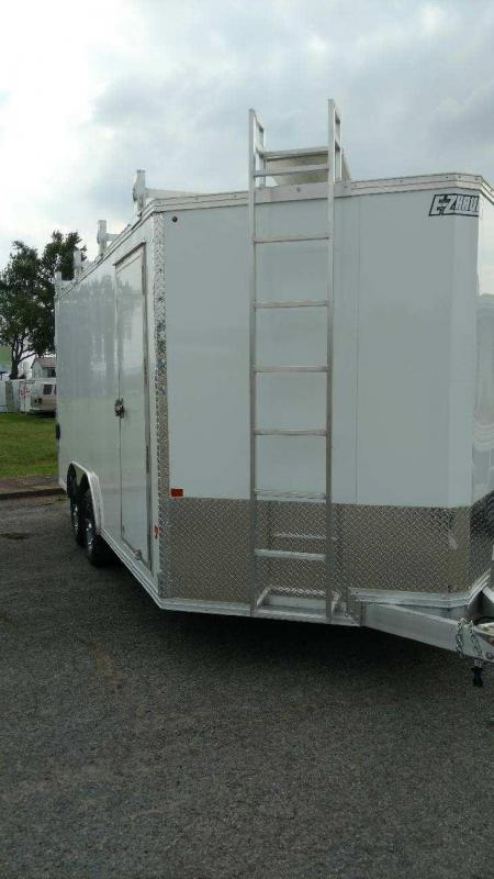 2018 Mission 8x16 all aluminum Enclosed Contractor Trailer