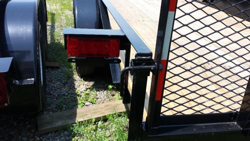2019 Holmes residential 6-4x14 utility trailer -7k -rail -LED