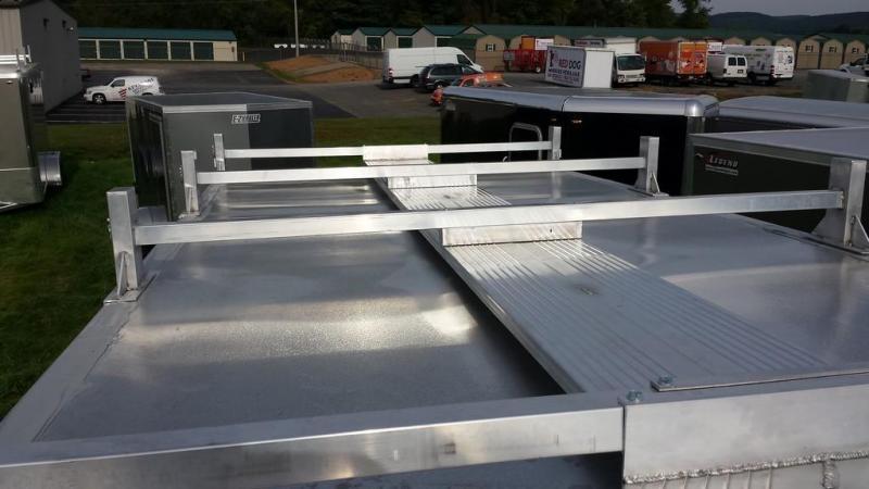 2018 Mission 7x16 all aluminum Enclosed Contractor Trailer