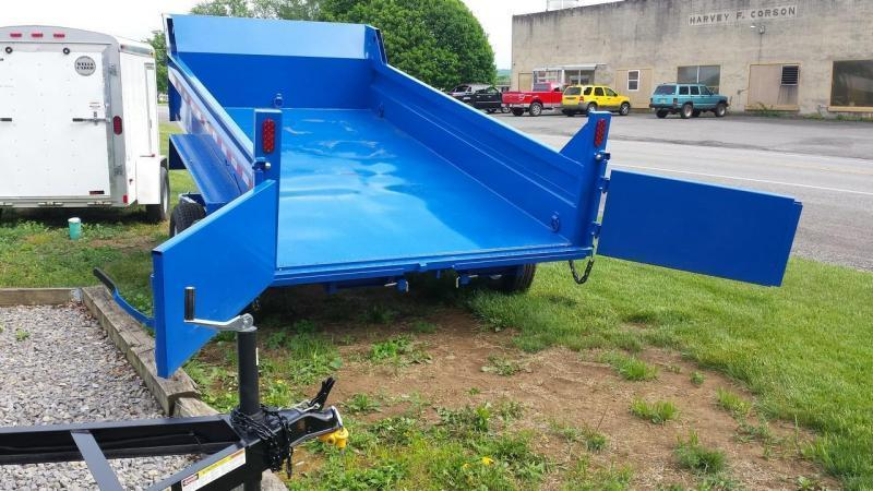 2018 Sure-Trac 6x12 low profile dump trailer -10k -ramps -combo gate