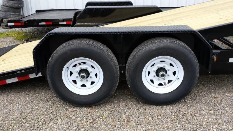 2019 Sure-Trac 7x18+4 partial tilt equipment trailer -14k -LED