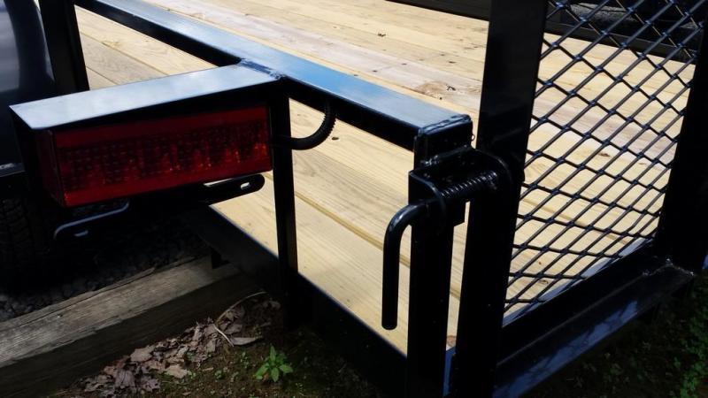 2019 Holmes 5x12 Open Side Rail Utility Trailer