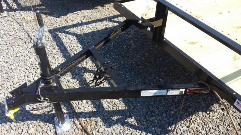 2019 Holmes 5x10 Open Rail Side Utility Trailer