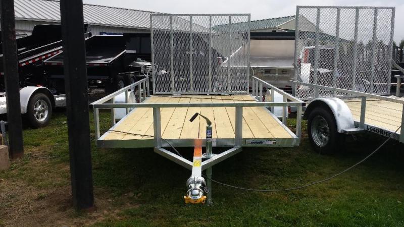 2018 Load Rite 6.5x12 Galvanized Open Side Utility Trailer