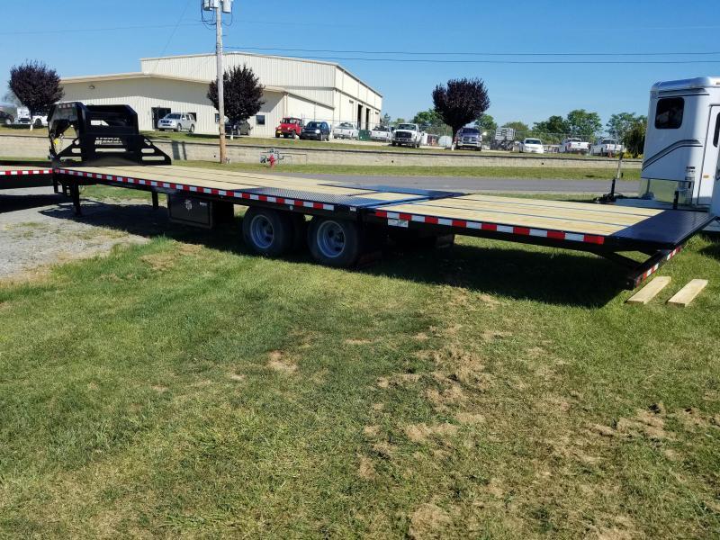 2018 Midsota FB32-GN Gooseneck Power Beavertail Flatbed Trailer