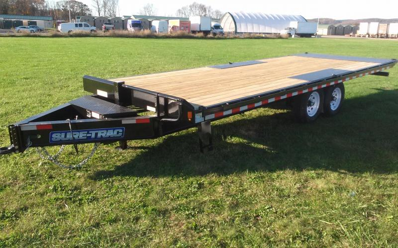 2019 Sure-Trac 8.5x22 15K Power Tilt Deckover Equipment Trailer in Plainfield, NH
