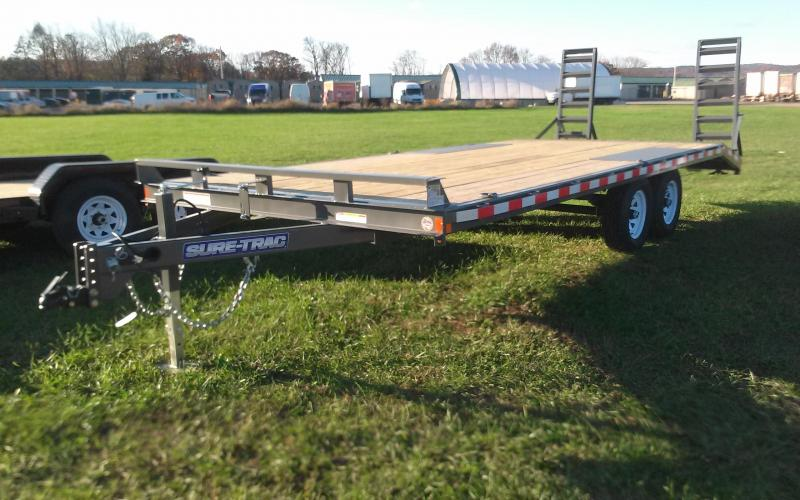 2018 Sure-Trac 17+3 10K Deckover Equipment Trailer