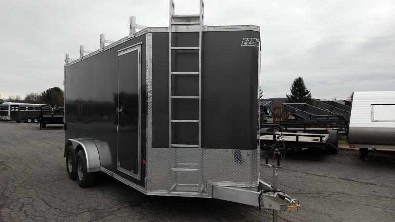 2019 Mission 7x16 10K all aluminum Enclosed Contractor Trailer