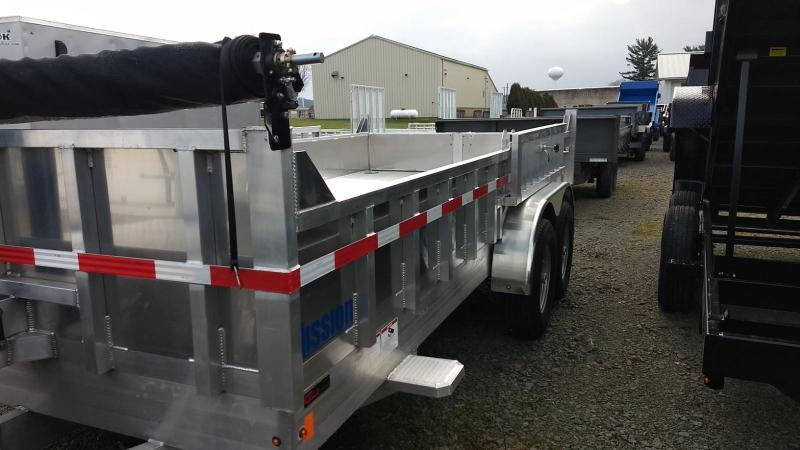 2019 Mission MODP 7x16 Aluminum 14K Dump Trailer