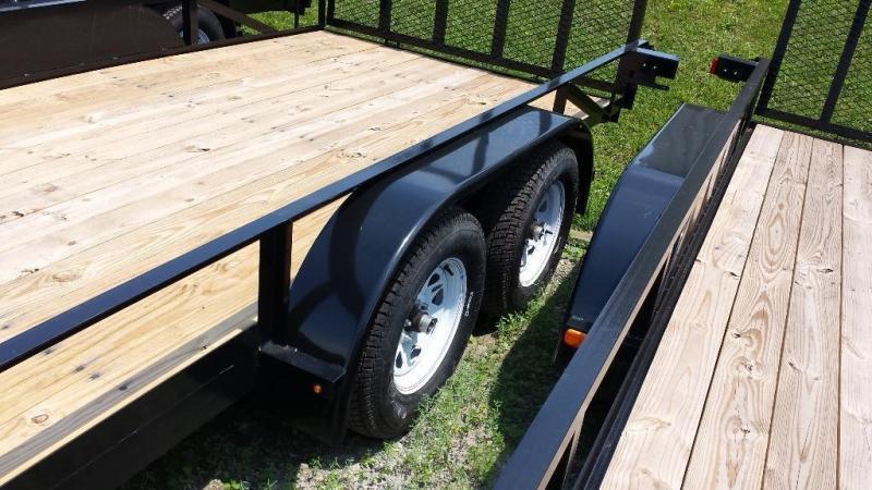 2018 Holmes residential 6-4x14 utility trailer -7k -rail -LED