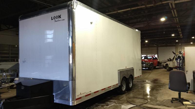 2018 Look Trailers 8.5x20 14K Drop Deck Enclosed Cargo Trailer