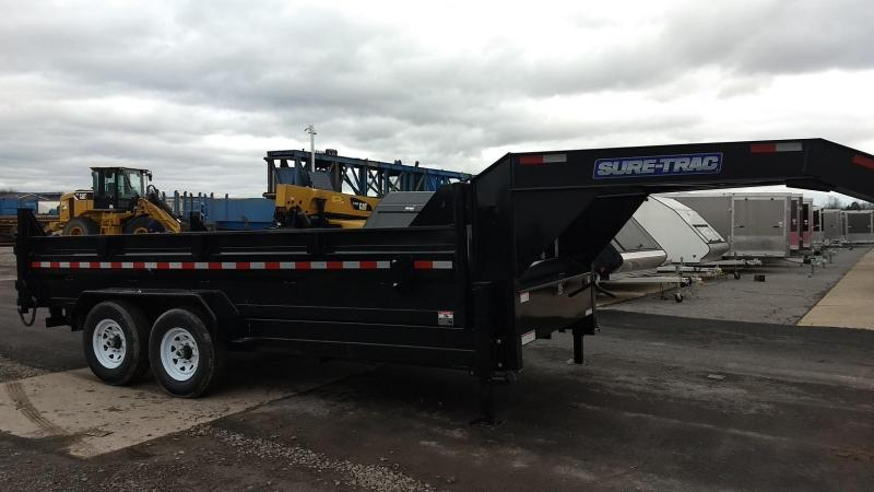 2019 Sure-Trac 7x16 14K low profile gooseneck dump trailer