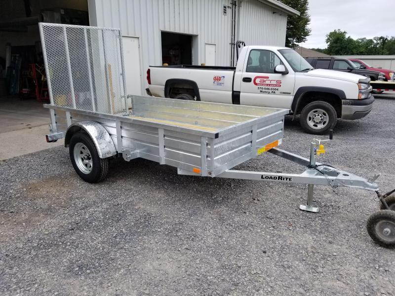 2018 Load Rite 5x10 Galvanized Solid Side Utility Trailer
