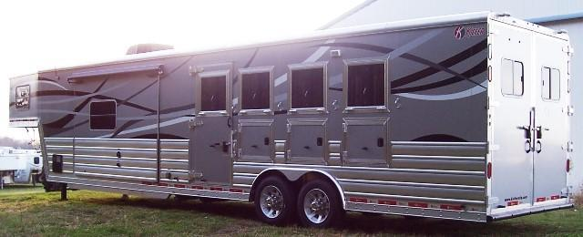 2017 Kiefer Manufacturing Genesis 8154 Sierra LQ Horse Trailer