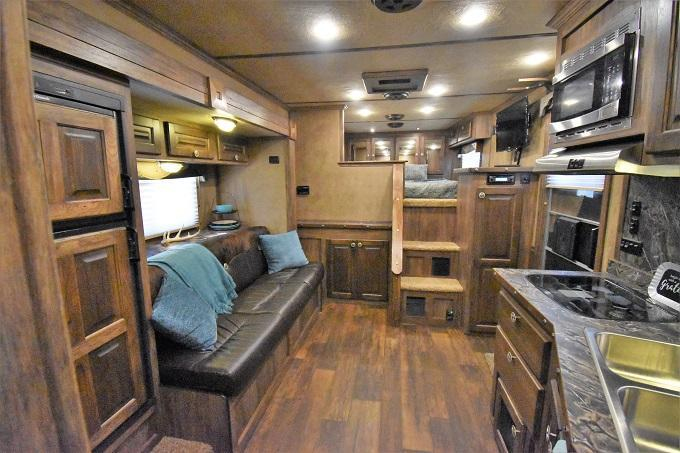 2016 Sierra 8313 w/Custom Full Rear Tack Horse Trailer