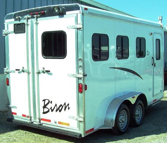 2013 Bison Trailers Stratus with Bunkbed weekender BP Horse Trailer