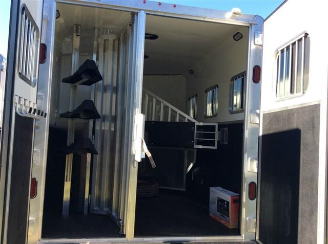 "2017 Kiefer Manufacturing Genesis 7103 w/10LQ / 7'6"" Wide & Mangers Horse Trailer"