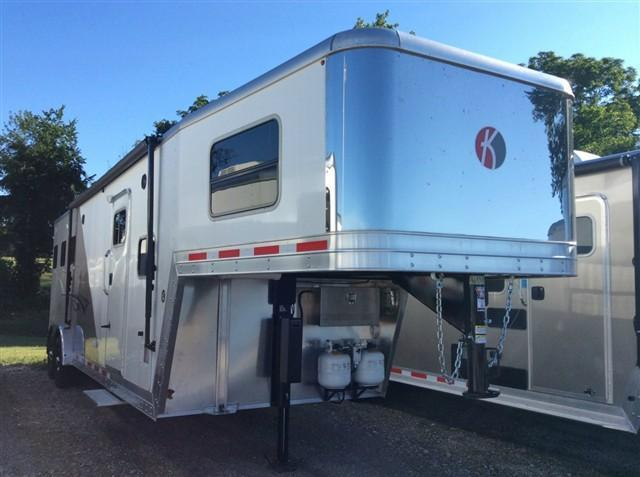 "2017 Kiefer Manufacturing Genesis 7103 w/10LQ / 7'6"" Wide & Mangers Horse Trailer"